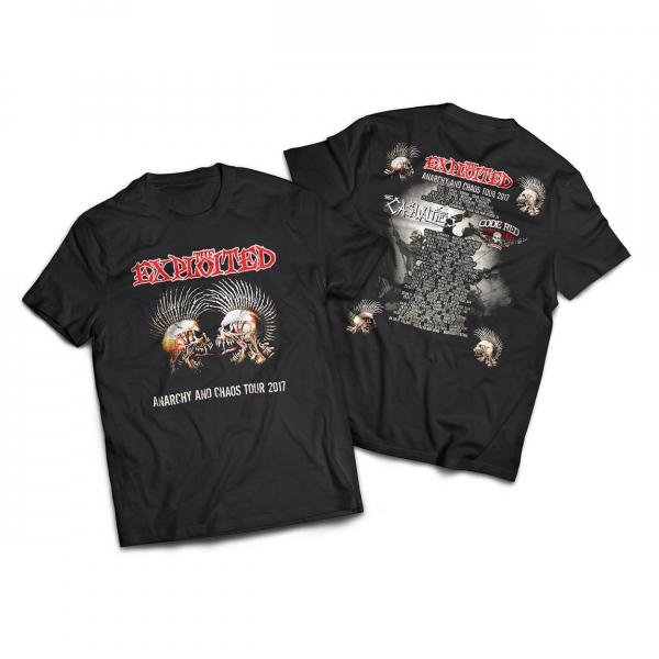 The Exploited - Anarchy and Chaos Tour 2017 - T-Shirt [black]